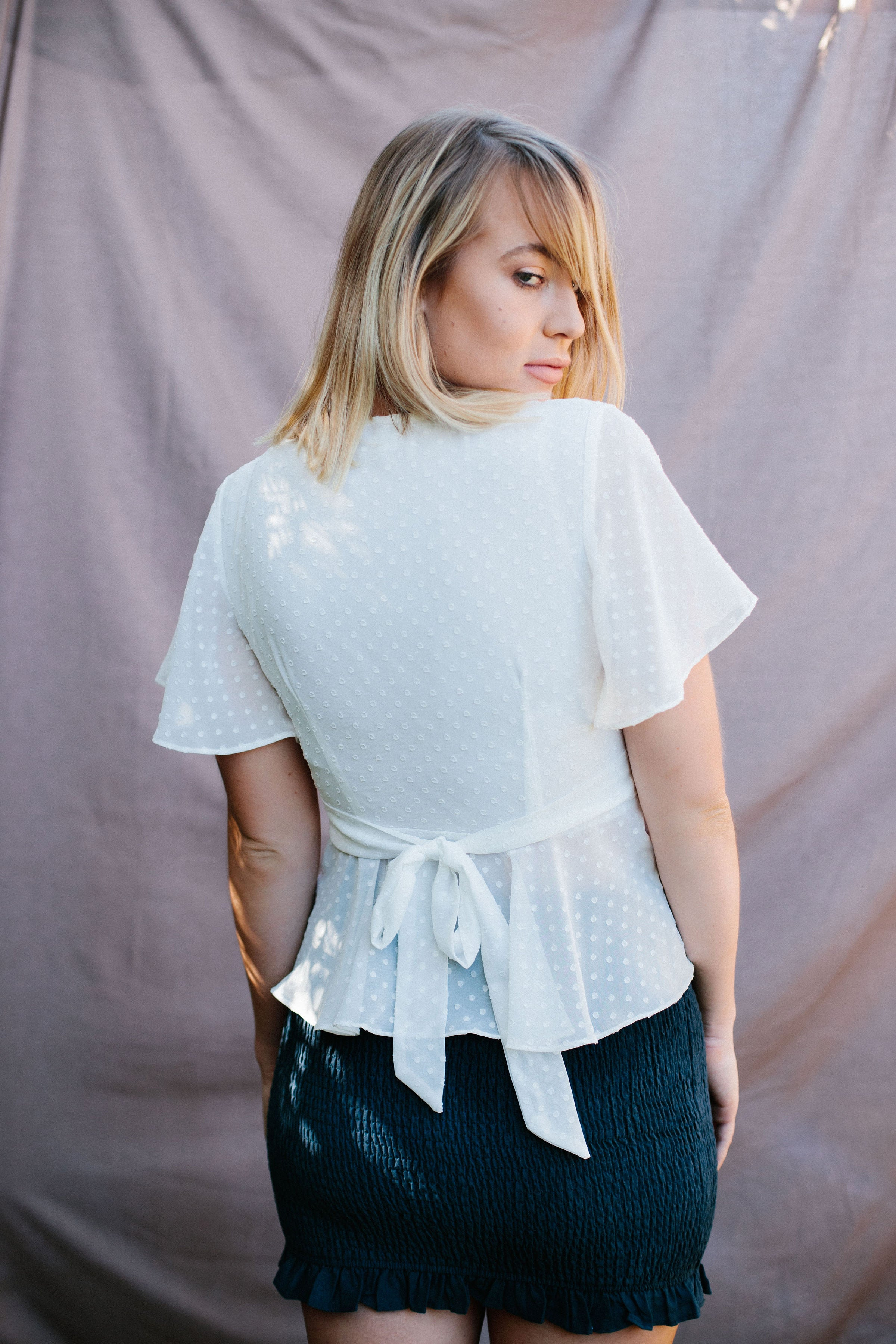 Venice Frill Tie Up Top