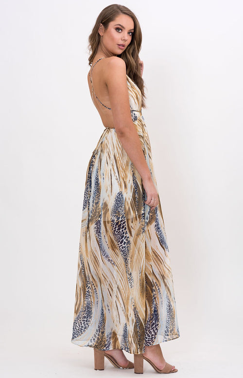 Animal Instinct Maxi Dress