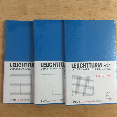 Leuchtturm1917 Blue Triple Packs Lined, Squared, Plain