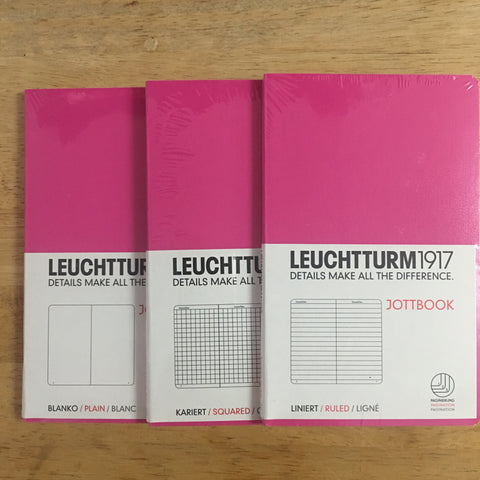 Leuchtturm1917 Pink Triple Packs Lined, Squared, Plain