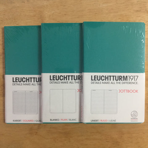 Leuchtturm1917 Teal Triple Packs Lined, Squared, Plain