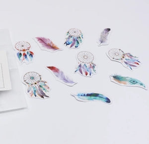 Tiny Stickers - Dream Catchers & Feathers 50 pack