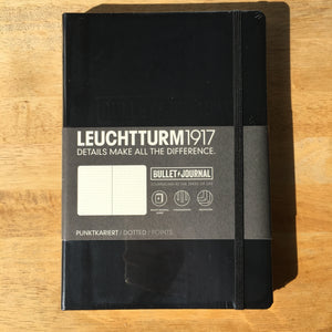 A5 Leuchtturm1917 Bullet Journal Edition Black Dotted