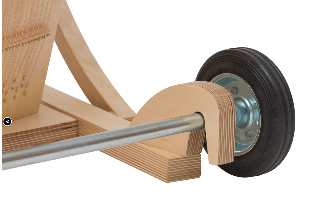 Details of the wheel attachment for the monchair
