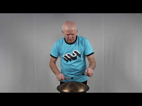 Metal sounds Ionian Aminor tuned stainless steel tongue drum handpan | WePlayWellTogether