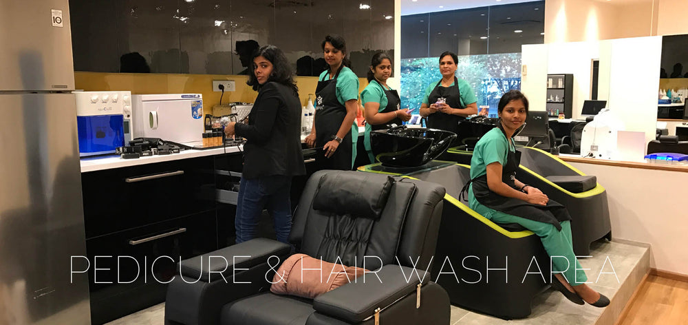 SINIMA Salon offers Bridal makeup, Hair straightening/smoothening, Keratin treatments, Dermalogica Facials, Phytomer Facials, Cryo Facials, manicure, pedicure, hair spas. SINIMA hair and bridal studio has one of the best hair wash stations in Kochi.