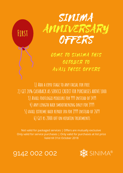 SINIMA First Anniversary Offers