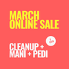 SINIMA March online sale! Cleanup mani pedi combo
