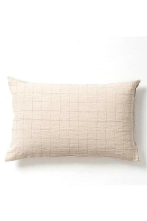 Grid Linen Pillowcase Set
