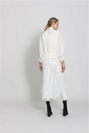 Washed Cropt Cocoon Coat