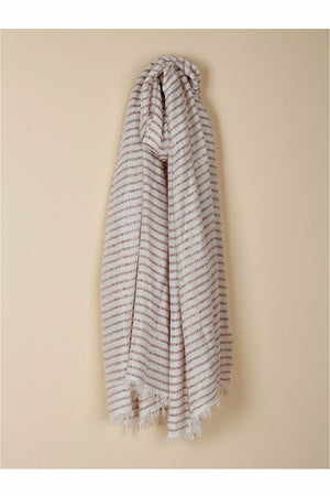 Striped Lurex Shawl