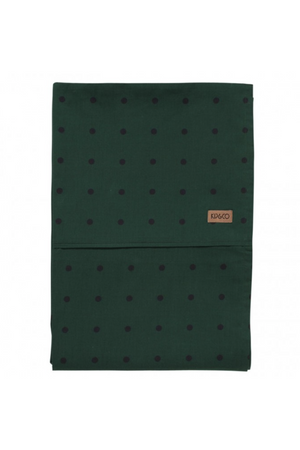 Dots Green Cotton Flat Sheet