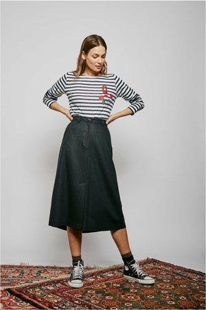 Jahel Stripes Skirt