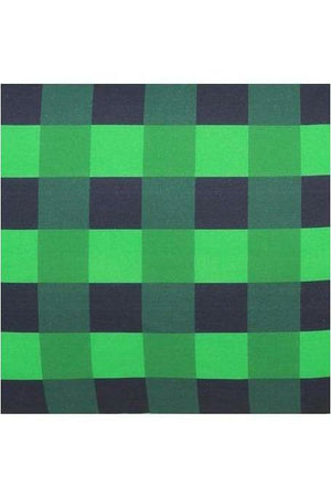 Apple Green Tartan Pillowcase Single