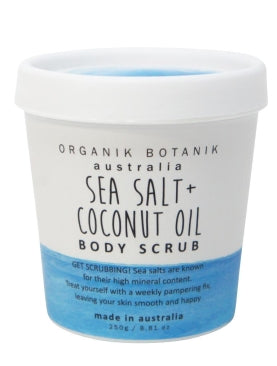 Organik Botanik Sea Salt & Coconut Oil Body Scrub (200g)