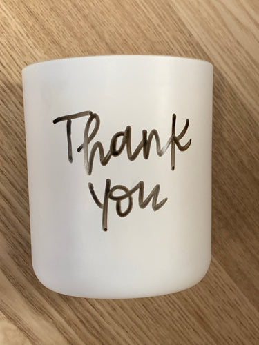 Thank you -Soy candle
