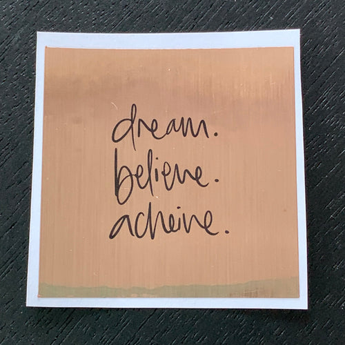 Dream, Believe, Achieve - Soy candle