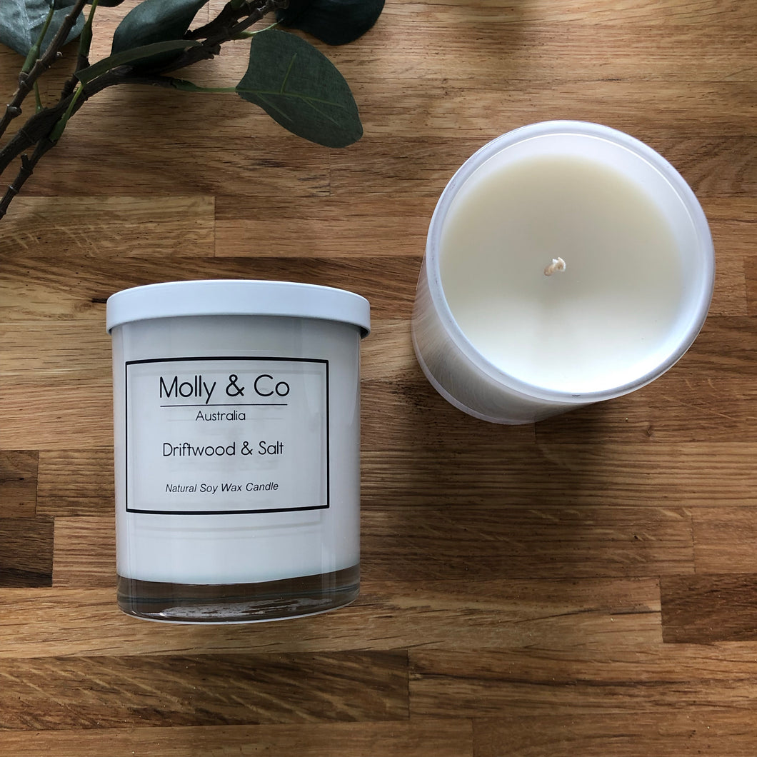Driftwood & Salt Soy Candle