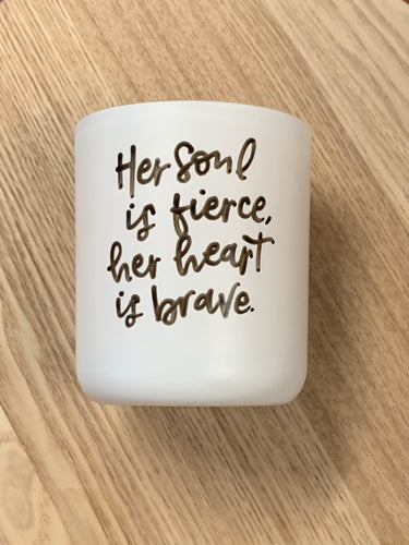 Her soul is fierce - Soy candle