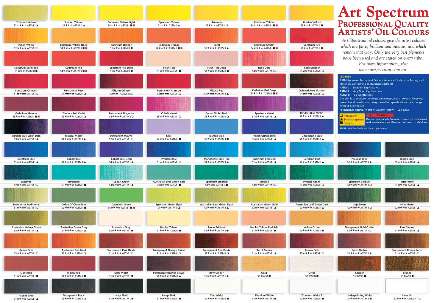 Golden fluid acrylics color chart images free any chart examples art spectrum professional 40ml oil art supplies australia click here to download the colour chart nvjuhfo nvjuhfo Choice Image