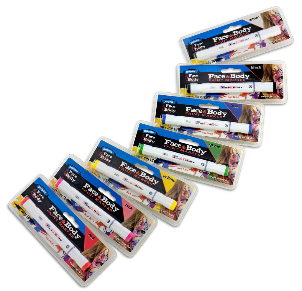 Derivan Face & Body Paint Markers & Wipes