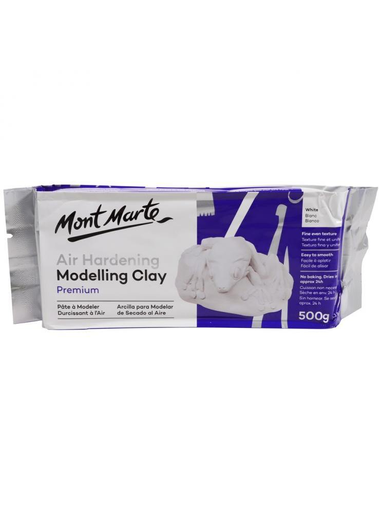 Mont Marte Premium Air Hardening Modelling Clay - White 500gms