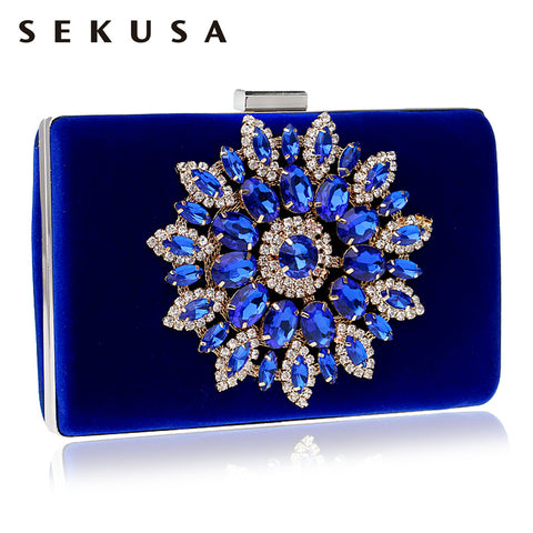 Flower Rhinestones Women Handbags