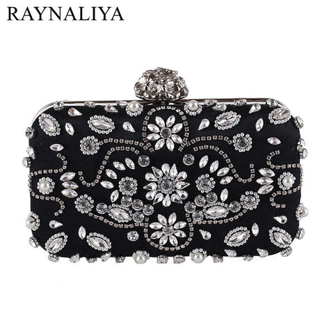 Pillow Beading, Faux Diamonds, Evening Clutch, Delivers in 16-26 days