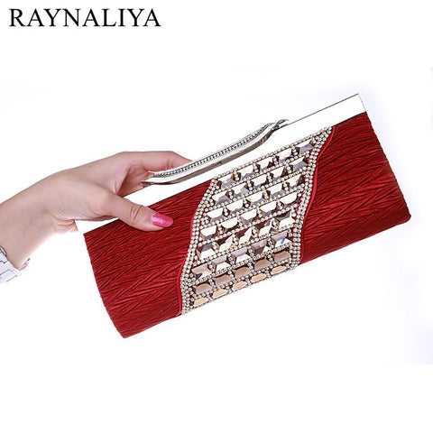 Elegant Rhinestone Clutch Silver, Black, Gold, Evening Bag, Comes in 5 colors. Delivers in 16-26 days.