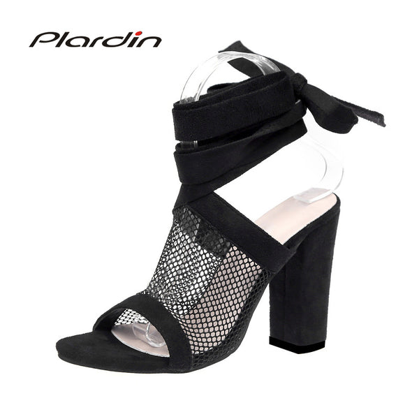 plardin 2018 ultra-high hollow out thick with sandal strap, sizes to 11, Delivers in 16-26 days