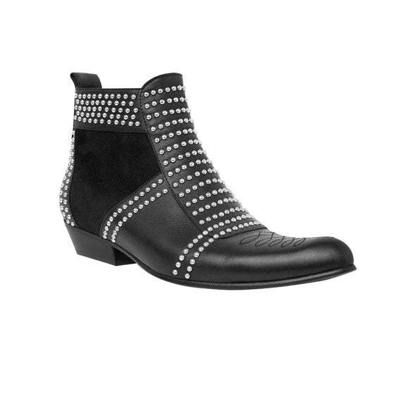 Anine Bing Charlie Boots Silver Studs