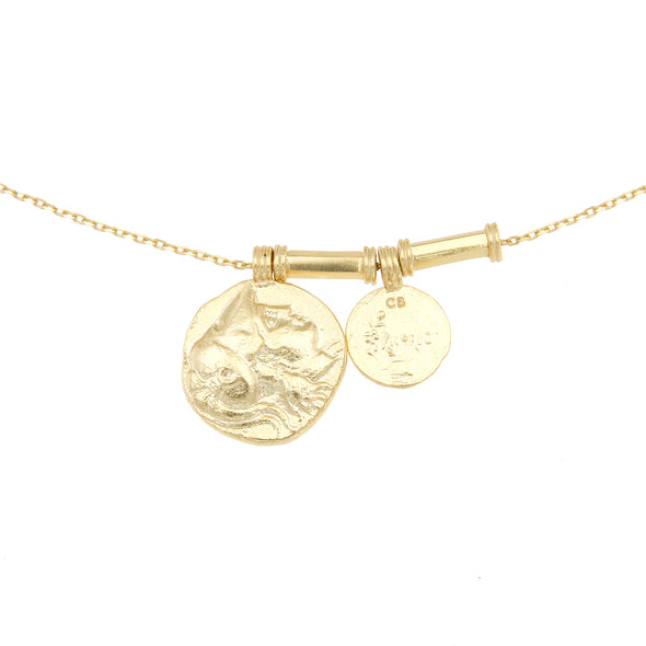Cleopatras Bling Angelus Necklace 18K Gold Plated