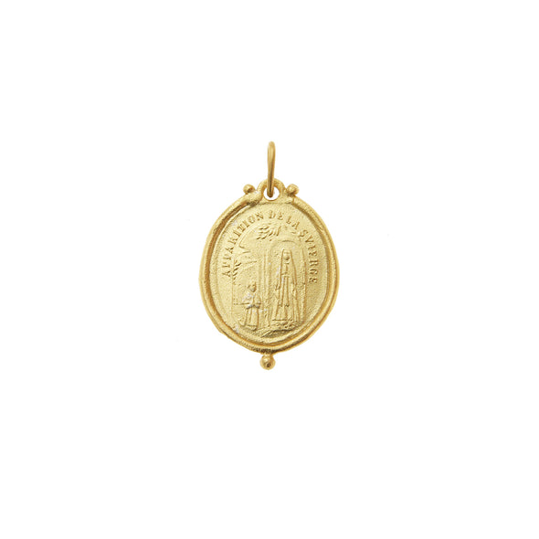 Cleopatra's Bling Mother of Light Amulet Necklace 18K Gold Plated