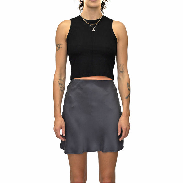 Lair Wear Bobbi Mini Silk Skirt Oyster