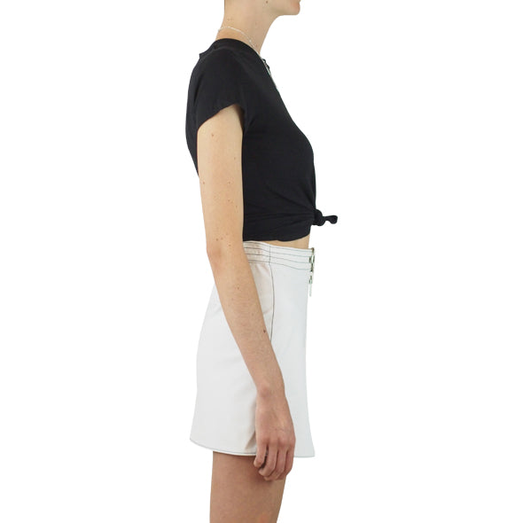 LAIR Sabbath Skirt White with Black Stitch