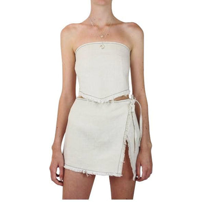 Lair Wear Sol Skirt Natural Linen
