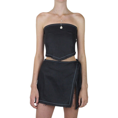 Lair Wear Sol Skirt Black Linen