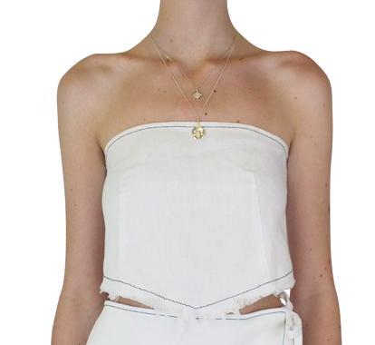 Lair Wear Piel Linen Top White
