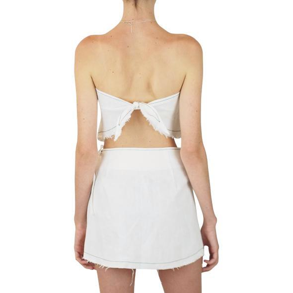 Lair Wear Sol Skirt White Linen