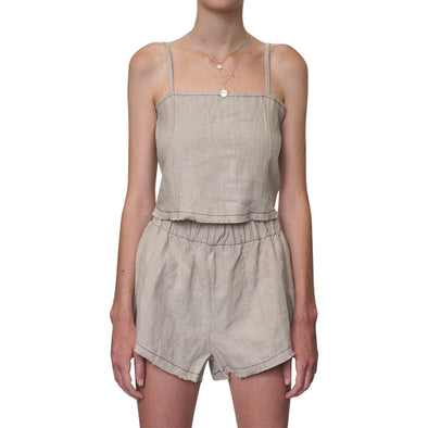 Lair Wear Verano Top Natural Linen
