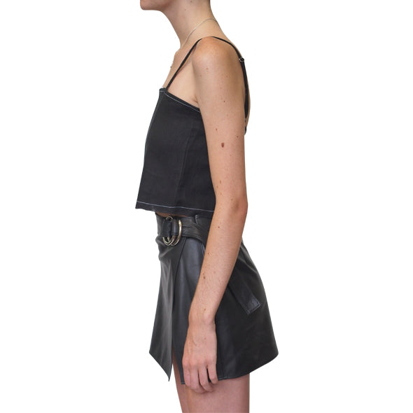 Lair Wear Verano Top Black Linen