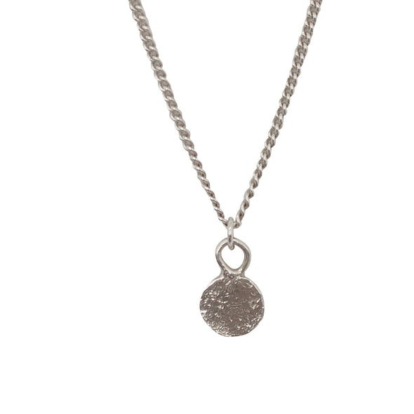 CURTIS.925 Disc Pendant Necklace