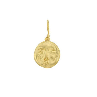 Cleopatra's Bling Moon Face Necklace Gold