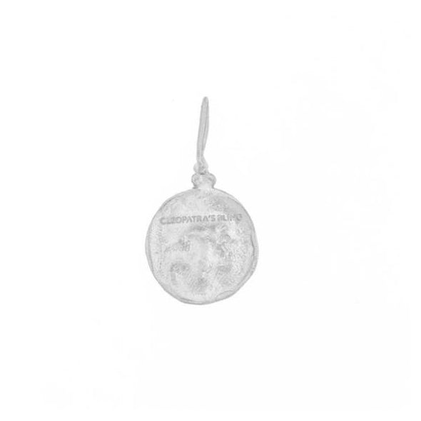 Cleopatra's Bling Moon Face Necklace Silver