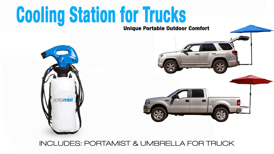 Package with Misting & Umbrella for Work Trucks