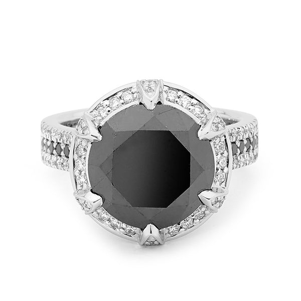 The Black Diamond Engagement Ring