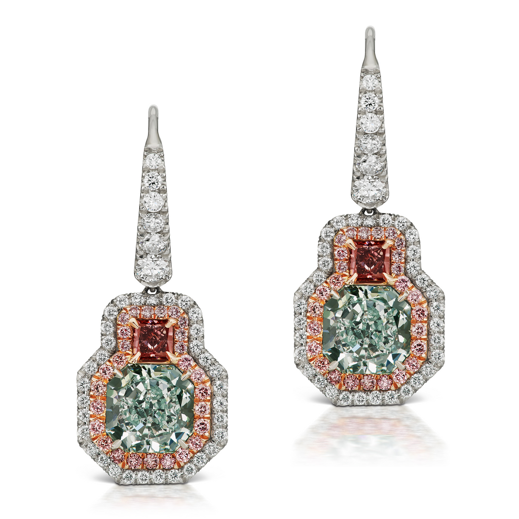 collections coloured diamond jewellery product earrings category a halo cluster musson archives argyle