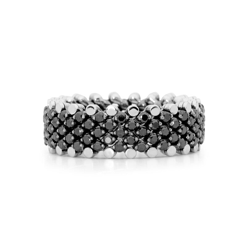 Expandable Black Diamond Ring