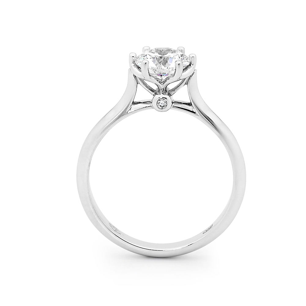 Eternal solitaire engagement ring