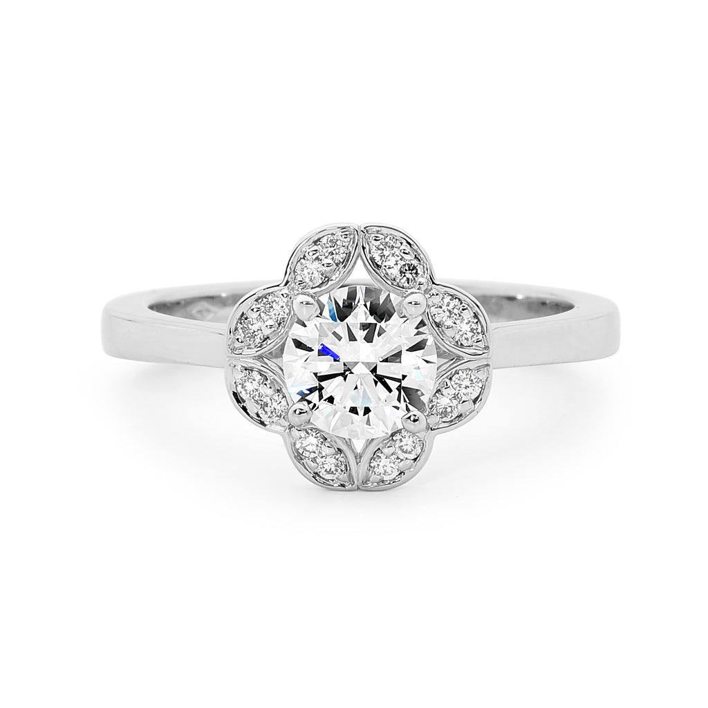 18ct White Gold Marquis Shapes Diamond Ring